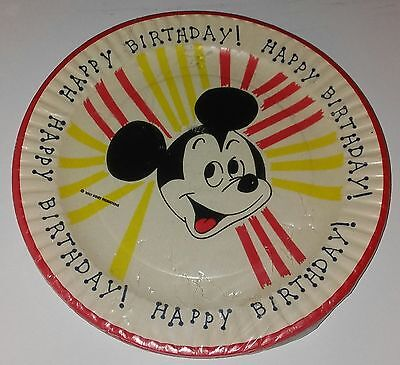 Birthday Paper Products (Vintage Beach Products Happy Birthday Mickey Mouse Paper)