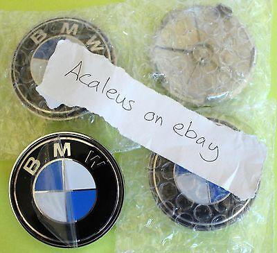 BMW 4x wheel Centre Cap 68mm 1 3 5 7 Series E46 E90
