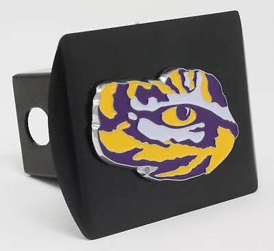 (Louisiana State University LSU Color Metal Hitch Cover Black 3.4