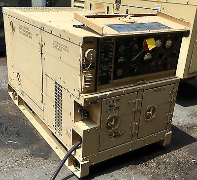 Military Mep803a 9-2013 Reman 10kw 60hz Diesel Quiet Generator 120-240 Vac 208