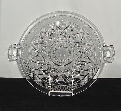 """Imperial CAPE COD CRYSTAL *11"""" HANDLED PLATE*160/145D"""