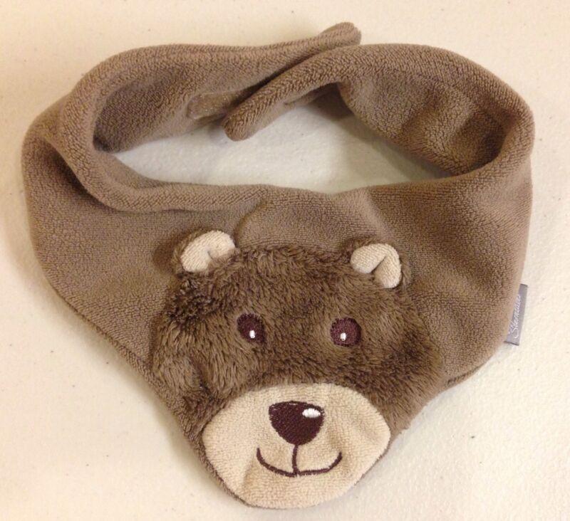 Sterntaler~Germany~Plush Baby Bandana Scarf~Brown Bear~Winter Warm~Triangle