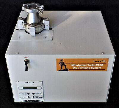 Varian Minuteman Turbo-v70d Dry Pumping System Vacuum Pump