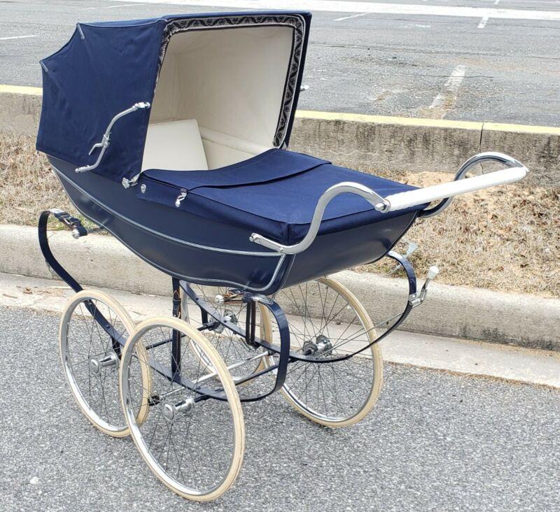 RaRe Wilson Silver Cross Baby Carriage Stroller VTG England Pram Doll Child