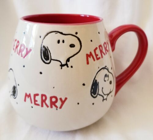 NEW Gibson Peanuts Merry Snoopy Christmas Oversized Coffee Mug Cup