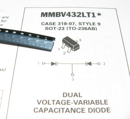 10pcs MMBV432LT1 Dual Voltage Variable Capacitance Diode Varicap SMD SOT-23 M4B