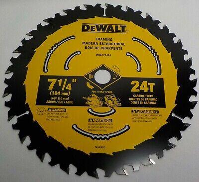 Dewalt-DWA171424 DEWALT 7-1/4'' 24T Saw Blade Carbide Teeth Circular Saw Framing ()