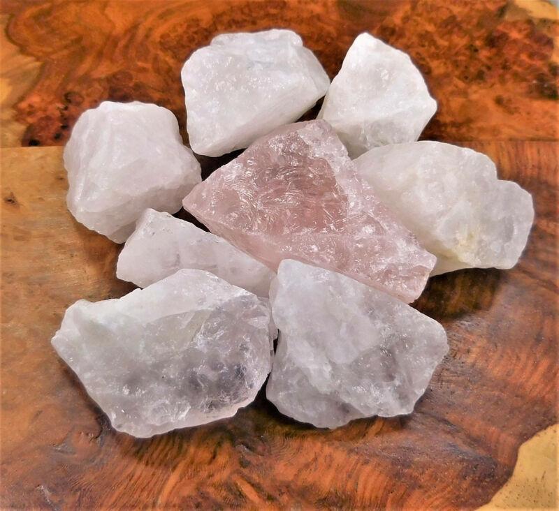 Bulk Wholesale Lot 1 LB - Rose Quartz - One Pound Rough Raw Stones Natural