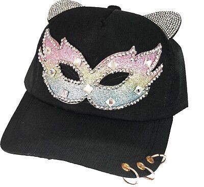 Maskenball-Maske Baseball Kappen, Damen, Mädchen Halloween Cat Ears Kostüm Hut