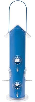 Perky-Pet Blue Metal Tube Bird Feeder
