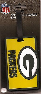 Green Bay Packers ID Tag Travel Bag Tag Luggage Team Colors NFL ()