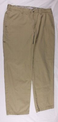 Columbia Men's  Chino Pants has Zipper Security/Cell Phone Pocket Size 36