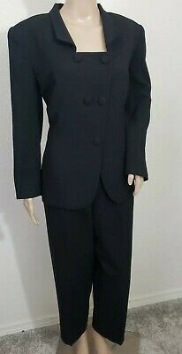 Christian Dior Vintage Women's Black Suit  Jacket & High Waist Pants Size 10 EUC