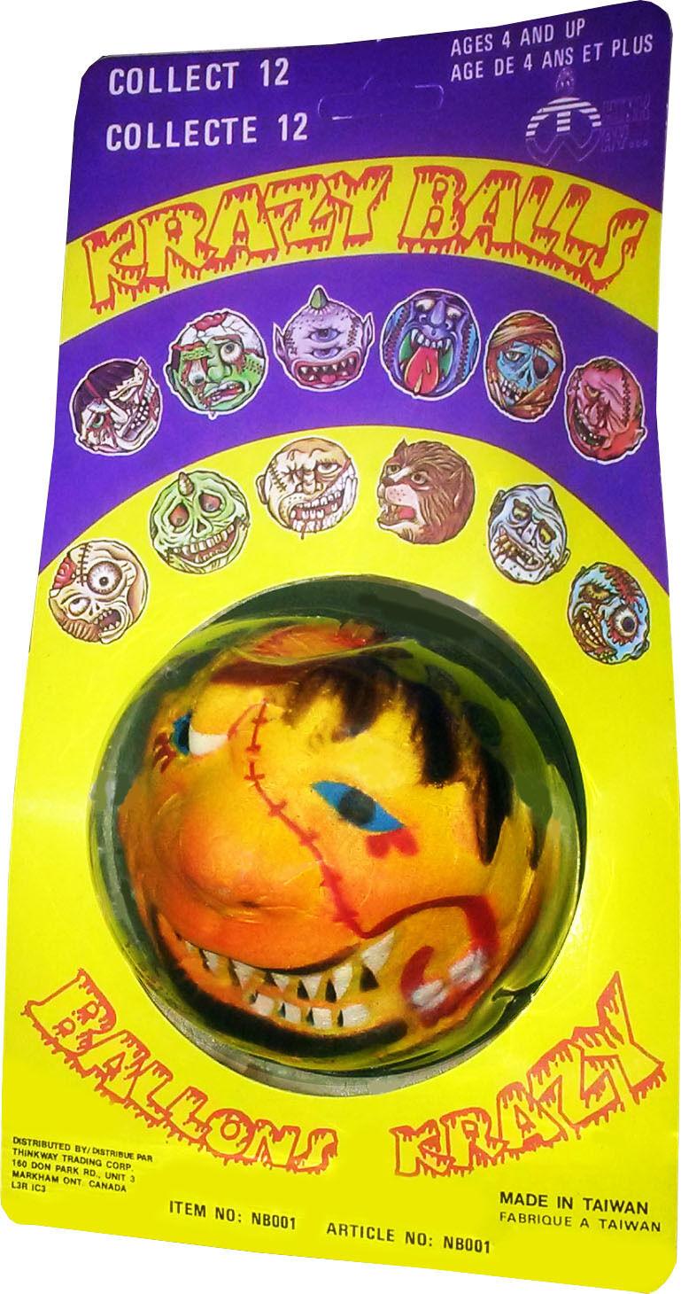 New! Rare Vintage 1986 MOSC!! Collectible! Krazy Balls