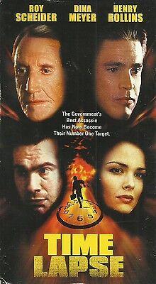 Time Lapse (VHS) Roy Scheider Police Thriller!