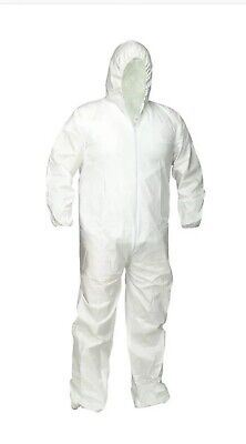 Protective Coverall Welastic Zipper Sz Extra Large Suit Cover Painter Sealed