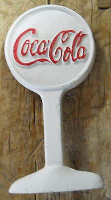 Lot of 5 Coca Cola Advertising Cast Iron Door Stop Display Sign Antique Style