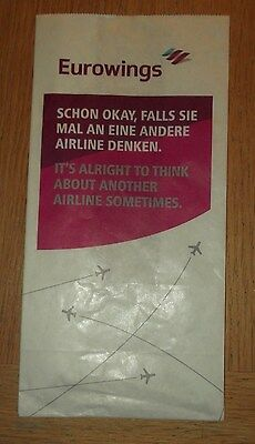 "Eurowings Sick Bag new, unused ""Its Alright....."""