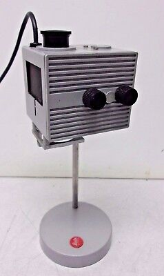Leitz Wetzlar Microscope 50w Focusing Lamp Housing With Stand Base Excellent