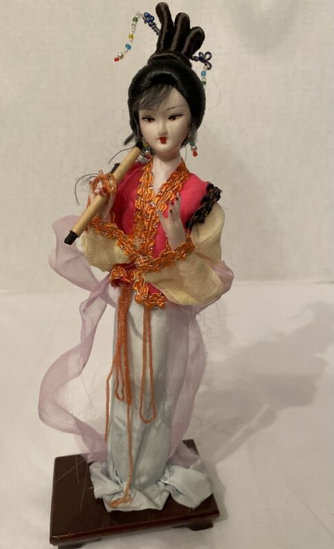 Vintage Chinese Doll With Scroll