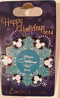 Disney Mickey Mouse 2014 Happy Holidays Contemporary Resort Snowflake Pin LE 750