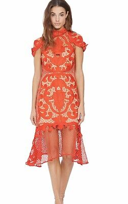 Thurley Size 8 (US 4-6) Rose Ceremony Cocktail Red Women Dress