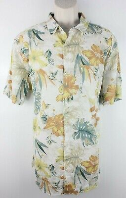 Billabong Mens Short Sleeve Button Front Tropical Floral Shirt Sz 2XL Cotton EUC