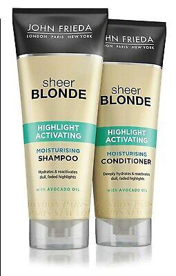 John Frieda SHEER BLONDE Highlight Activating Shampoo & Conditioner 250ml NEW