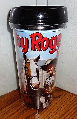 - ROY ROGERS TRAVEL MUG. 16 oz  TUMBLER MUG. KING OF THE COWBOYS AND TRIGGER