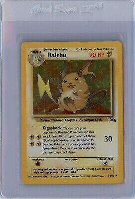 POKEMON CARD FOSSIL Raichu 14/62 HOLO FOIL RARE