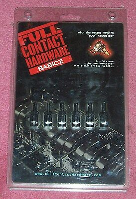 Full Contact Hardware by Babicz Guitars .. Saddle Set in black finish