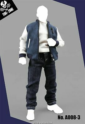 TIDE-Zone 1/6 Baseball Shirt Suit A008-3 Male Clothes Accessory for 12