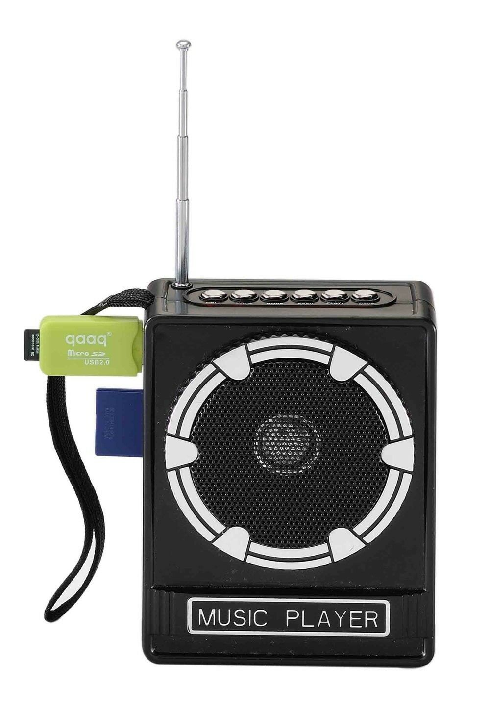 CASSA AMPLIFICATORE RADIO PORTATILE LETTORE STEREO MP3 FM SD CARD USB (VE)