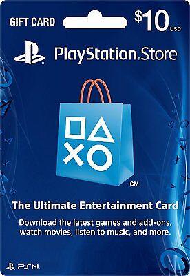 $10 Playstation Network Card for PSN PSP PS3 PS VITA *NEW*