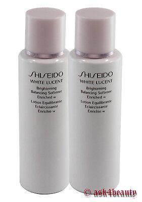 Lot of 2 Shiseido White Lucent Brightening Balancing Softener W/Lotion 100ml