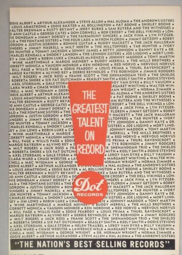 Dot Records PRINT AD - 1962