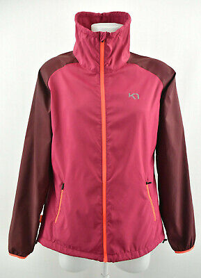 KARI TRAA Women Lightweight Jacket Outdoor Hooded Full Zip Purple Coat Size XL