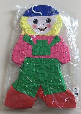 Pinata Mänchen pink grün Fasching Karneval Kinder Geburtstag