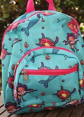 Kleine Mädchen Meerjungfrau Rucksack Schule Tasche Reise Strand Play Tragetasche