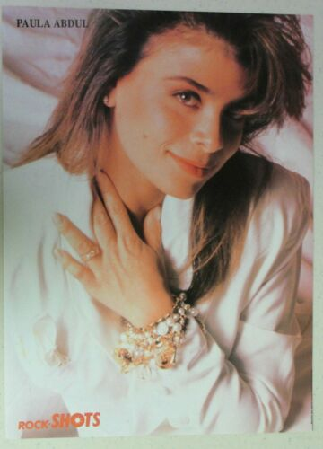 PAULA ABDUL Full Page Pinup magazine clipping very young PRETTY POSE