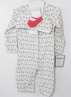 Carter's Little Baby Basics Converter Gown Set Hat Socks Girls Mitten Cuff New*