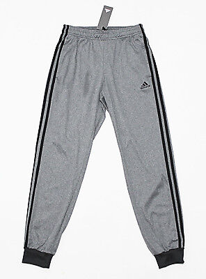 NWT ADIDAS Gray-Black 3S Cuffed Men's Track Pants Small pocket sweatpants jogger