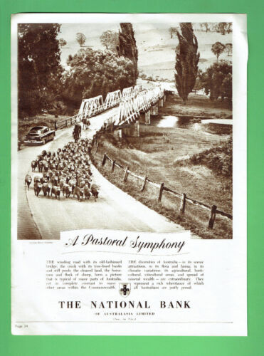 #T69.   EARLY 1950s  ADVERTISMENT - THE NATIONAL BANK OF AUSTRALIA