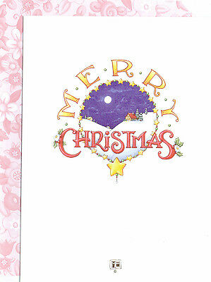 Mary Engelbreit-MERRY CHRISTMAS AND HAPPY NEW YEAR Greeting Card-NEW! (Merry Christmas And Happy New Year Greeting Card)