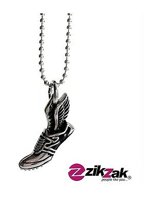 Shoe Angel Wing Pendant- Necklace Stainless Steel Today's Deal! ()