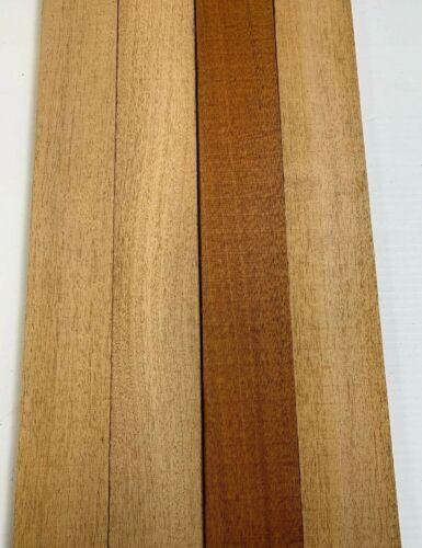 "4 Pack Set,  Beautiful Mahogany Lumber - 3/4"" x 2""  (4 Pcs)  (3/4"" x 2"" x 18"")"