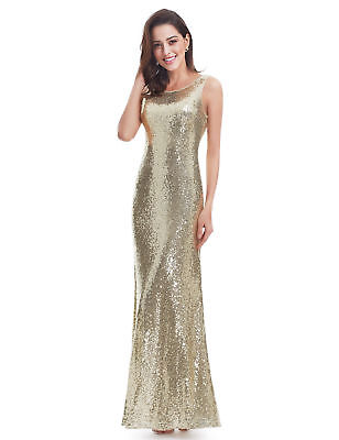 Ever Pretty Long Sequins Evening Dresses Sleeveless Glitter Party Dresses 07110