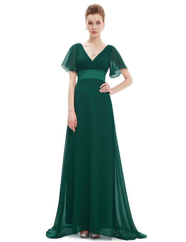 US Long Formal Prom Dress Bridesmaid Maxi Evening Party Ball Gown ...