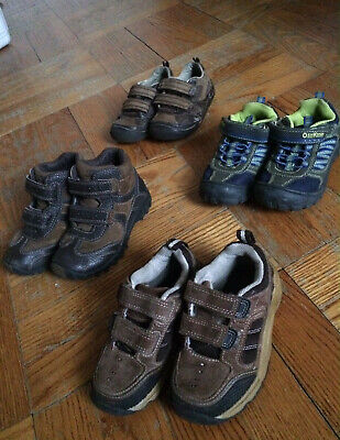 Lot of Toddler Kids Leather Shoes Boys 4 Pairs size 7.5, 8m, 8xw