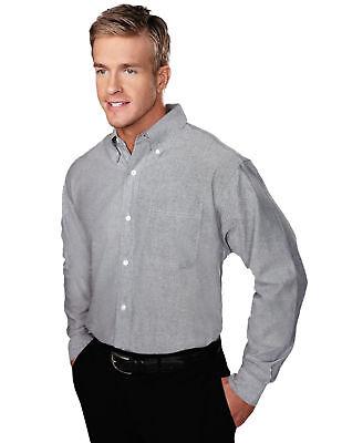 Tri Mountain Men Techno Blended Teflon Stain Resistant Finish Oxford Dress Shirt